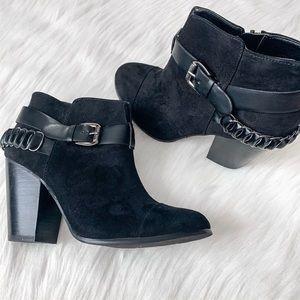 Carlos Santana Black Ankle Boots
